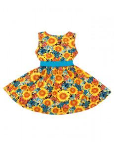 """Платье для девочек с цветами """"оранжевые подсолнухи"""""""