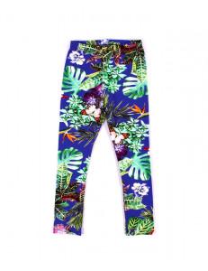 Лосины для девочек тропические цветы
